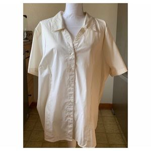 WHITE STAG BUTTON UP BLOUSE 22-24W